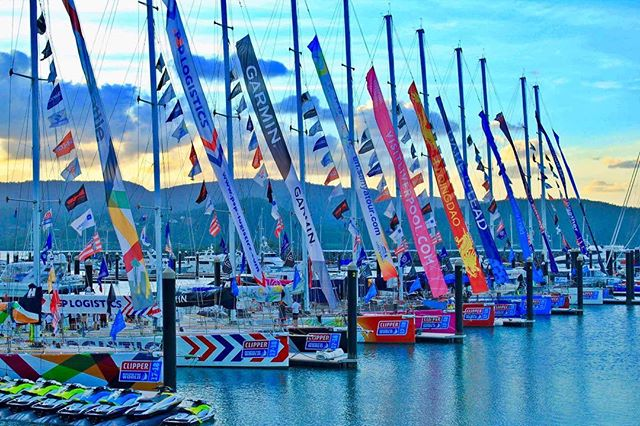 Clipper boats tied up at Abell Point Marina (image @abellpointmarina
