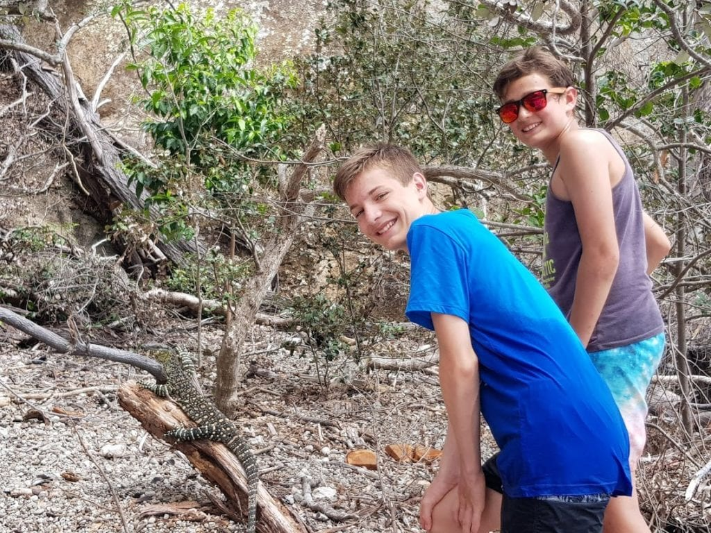 Selfie with a Goanna