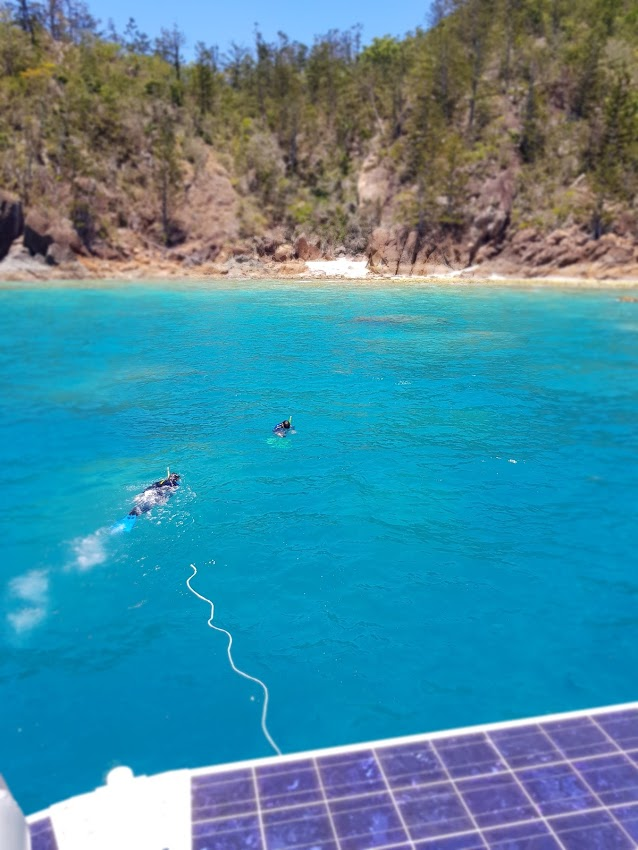 Snorkelling at Manta Ray Bay