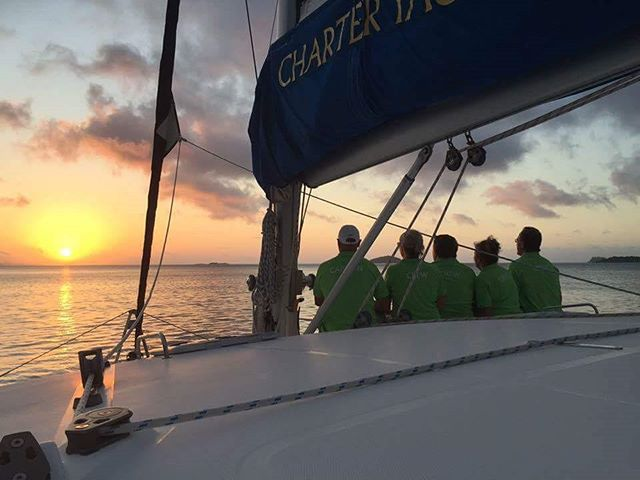 Crew at sunset