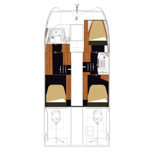 Fountaine Pajot MY 37 power catamaran layout