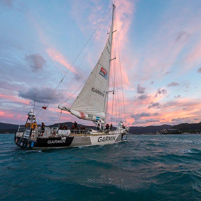 Sunset arrival of the fleet