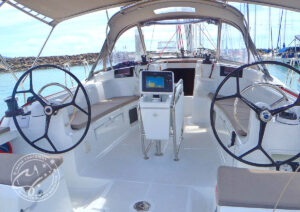 """LeiZar"" Jeanneau Sun Odyssey 439 Cockpit"