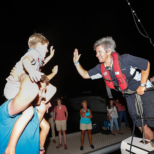 High fives for the winners of the Whitsundays leg of the race