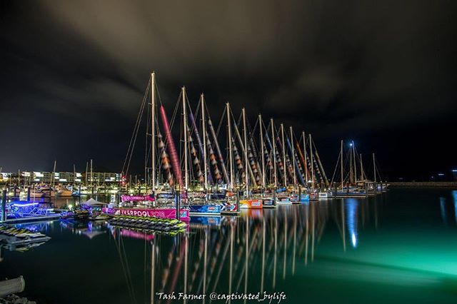 The Clipper fleet at night