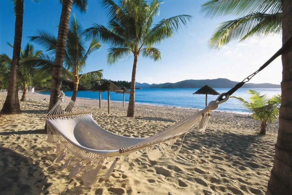 Hammock on Catseye Beach, Hamilton Island