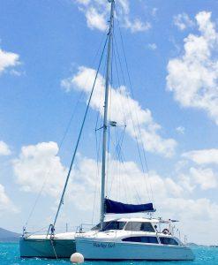 'Harley Girl' Seawind 1250 Sailing Catamaran at anchor
