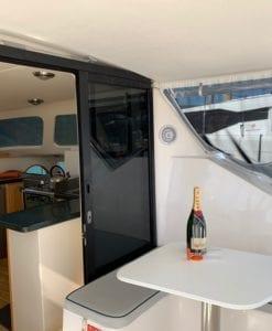 'Mischief' Lightwave 38 Sailing Catamaran Rear Deck