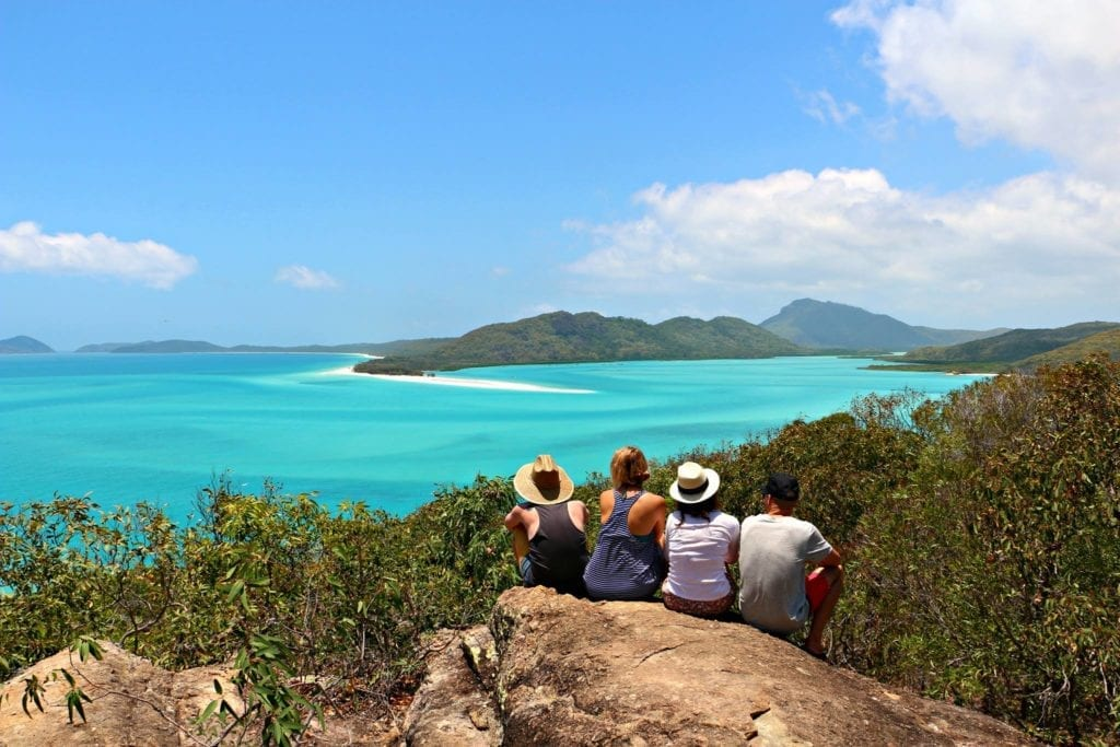 WHITEHAVEN BEACH HILL INLET LOOK OUT WHITSUNDAYS