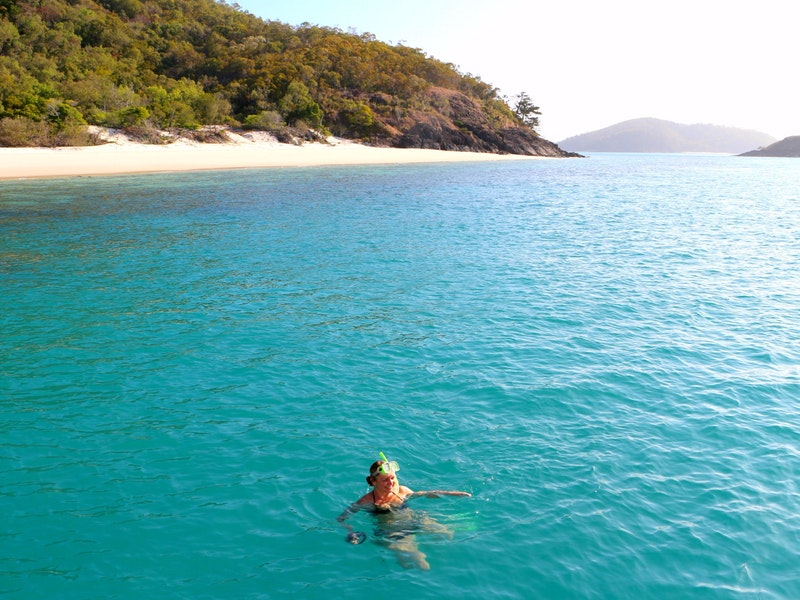 Swimming Whitsunday Islands
